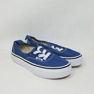 Vans Authentic Elastic Navy Sneakers Kid's Sz 11.5
